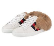 Sneaker NEW ACE mit Fell - WEISS