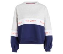 Sweatshirt - blau/ grau