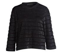 Shirt IMANI 3/4-Arm - schwarz/ silber