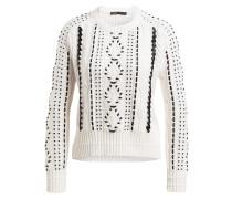 Pullover MILA - weiss/ schwarz
