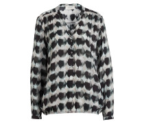 Blusenshirt - schwarz/ grau/ mint