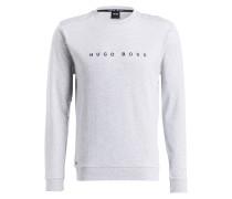 Lounge-Sweatshirt - hellgrau meliert