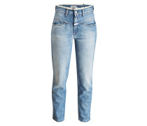 Girlfriend-Jeans PEDAL PUSHER - blau