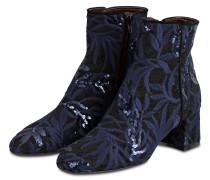 Stiefeletten - schwarz / marine metallic