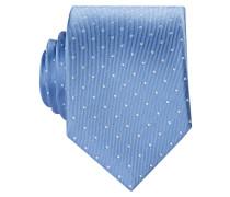 Krawatte - hellblau/ weiss gepunktet