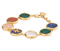 Armband - gold/ grün/ blau