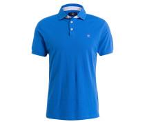 Piqué-Poloshirt Slim-Fit - cobaltblau