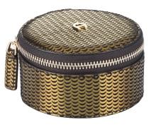 Schmuckbox - oliv/ gold