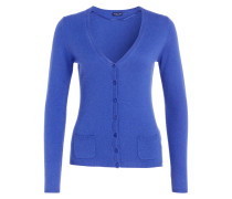 Cashmere-Cardigan - royal