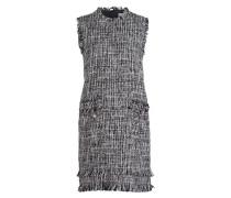 Tweedkleid - weiss/ schwarz/ grau