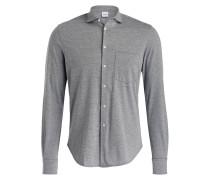 Jerseyhemd Slim-Fit - grau meliert