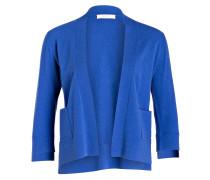 Strickhülle mit Cashmere-Anteil - blau