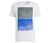 T-Shirt - weiss/ blau/ grau