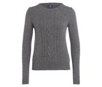 Pullover mit Alpaka-Anteil - grau meliert