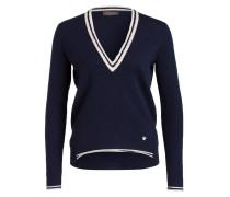 Pullover mit Cashmere-Anteil - dunkelblau