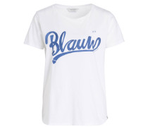 T-Shirt BLAUW - weiss