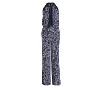 Jumpsuit - navy/ weiss
