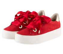 Plateau-Sneaker - rot