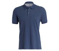 Piqué-Poloshirt - jeansblau