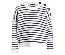 Pullover MARKET - weiss/ navy
