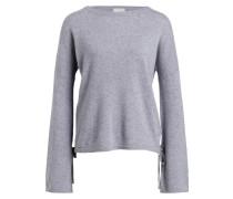 Cashmere-Pullover - blaugrau meliert