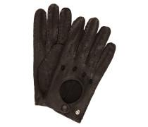 Lederhandschuhe CLASSIC DRIVER - schwarz