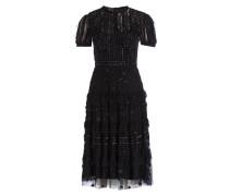Kleid JET mit Paillettenbesatz - schwarz