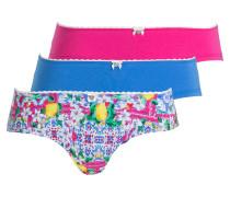 3er-Pack Panties - blau/ pink/ grün