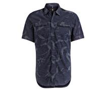 Halbarm-Hemd LANDOH Slim-Fit - blau