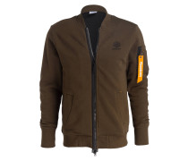 Sweatjacke FLEECE BOMBER - grün