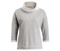 Shirt mit 3/4-Arm - grau/ weiss meliert