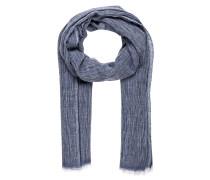 Schal mit Leinenanteil BLEEKER - blaugrau