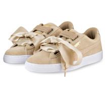 Sneaker BASKET HEART METALLIC - safari