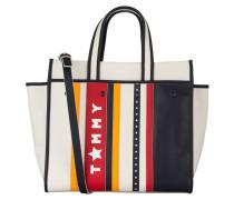Shopper - offwhite/ navy/ rot