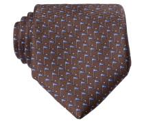 Krawatte - braun/ blau/ creme