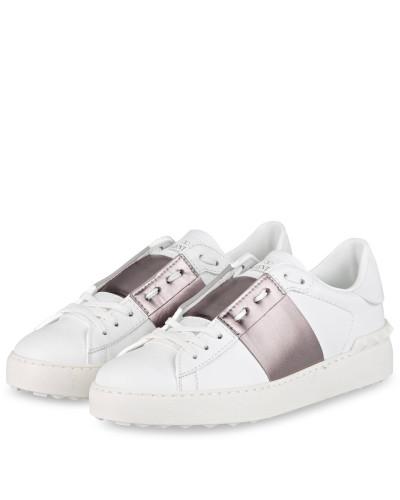 Sneaker OPEN - WEISS/ BRONZE METALLIC