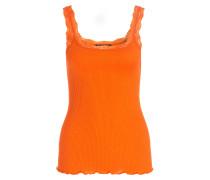 Top mit Seidenanteil - orange