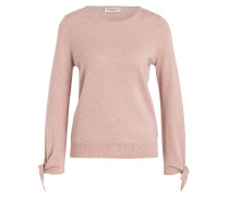 Cashmere-Pullover - rosé meliert