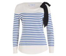 Pullover TROCADERO - ecru/ blau gestreift