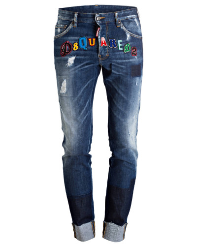 Destroyed-Jeans COOL GUY Slim-Fit - navy