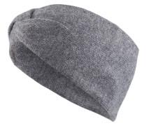 Cashmere-Stirnband - grau meliert