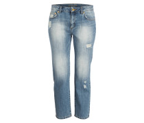Cropped-Jeans - light indigo