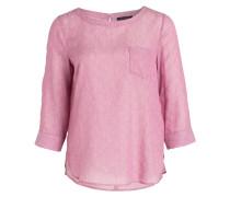 Bluse mit 3/4-Arm - rosa