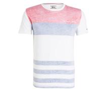 T-Shirt - weiss/ rot/ blau