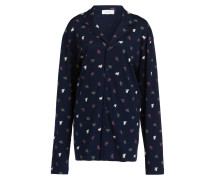 Sleep-Shirt - blau/ ecru/ oliv