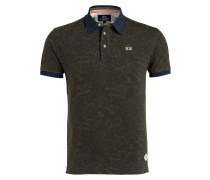 Piqué-Poloshirt JACK Slim-Fit - grün/ blau