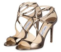Sandaletten LANG 100 - taupe metallic