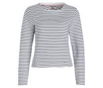 Pullover - weiss/ navy gestreift