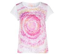 T-Shirt DALENIL im Materialmix