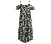 Kleid RAFAELA - grün/ schwarz/ rosa
